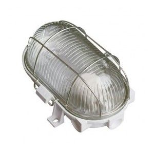 Comprar Apply oval plastic metal grille, E27 60W White online