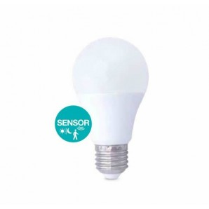 LED bulb 10W with sensor twilight and presence E27 3000K
