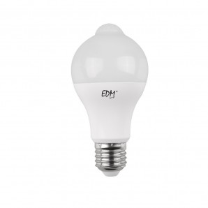 LED bulb 12W with sensor twilight and presence E27 6400K