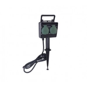 Plugs and air bases - Stake garden with 2 sockets and 1.5 m IP44 GSC 0501332