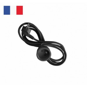 Extension electric system FRENCH 4 meters black