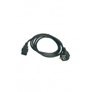 Cable connection computer (3x0.75mm) 1.8 M black