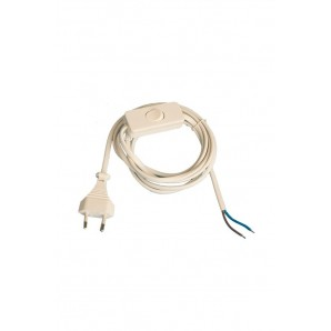 Connection flat cable with switch-step-white 1.5 meters