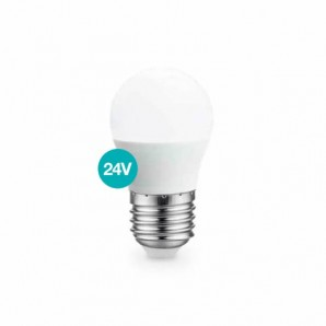 LED bulb spherical 5W E27 3000K 24V