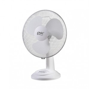 Fan desktop ø30cm 45w 3 speeds safety grid swivel head or fixed adjustable