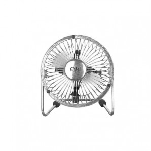 Industrial fan mini 20w ø10cm blades edm fan desktop chrome with grid security