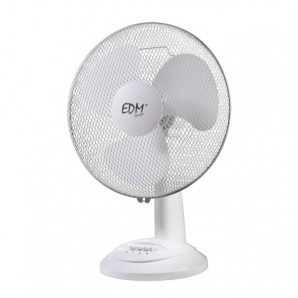 Fan edm desktop ø40 cm 55w 3 speeds safety grid swivel head or fixed adjustable