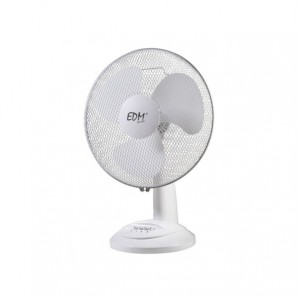 Fan edm desktop ø20 cm 35 w 3 speeds safety grid swivel head or fixed adjustable
