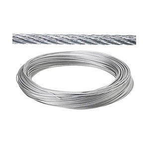 Steel cable - Galvanized cable 2 mm. (Roll 100 Meters) not for elevation