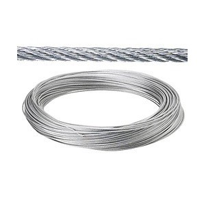 Steel cable - Galvanized cable 8 mm. (Roll 100 Meters) not for elevation