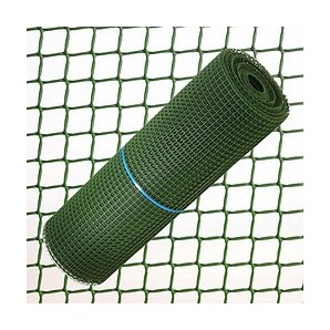 Mesh and trellises - Square Plastic fabric 1.0 cm. x 1 Metre. Green Roll 25 Metres