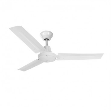 Industrial ceiling fan without light white 55W 140cm EDM 33981