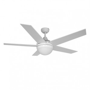 ADRIATICO ceiling fan 60W 130cm white / chrome 2xE14 40W EDM 33988