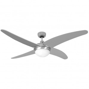 CASPIAN ceiling fan 2xE27 60W 114cm chrome with remote control EDM 33807