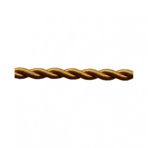 Electrical Cable twisted - Textile Cable twisted 2x0,75mm gold matte silk roll 25m EDM 11960