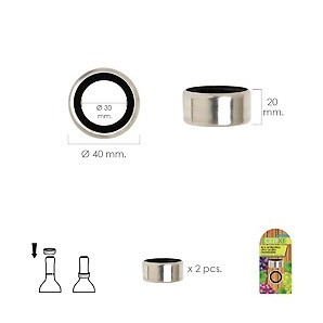 Ring anti-Drip Wine Stainless Steel (Blister pack 2 units) 05057025