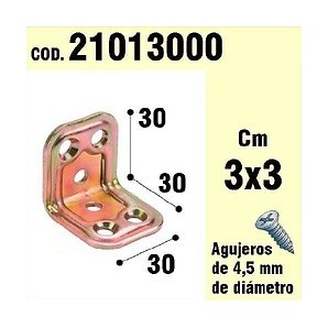 Brackets for wood - Support For Wood Angle 30 x 30 x 30 mm 21013000