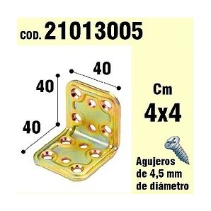 Brackets for wood - Support For Wood Angle 40x40x40 mm 21013005