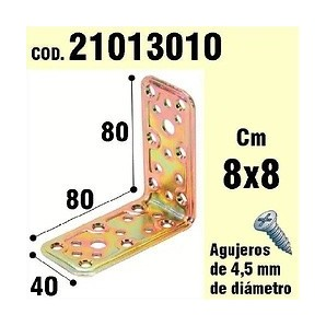 Support For Wood Angle 40x80x80 mm 21013010