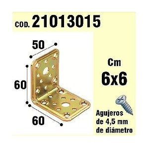 Brackets for wood - Support For Wood-Angle 50x 60x 60 mm 21013015