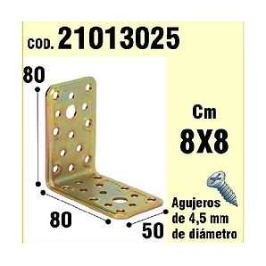 Brackets for wood - Support For Wood Angle 50x80x80 mm 21013025