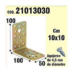 Brackets for wood - Support For Wood-Angle 50x 100x 100 mm 21013030