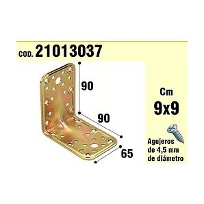 Support For Wood Angle 65x90x90 mm Thickness 2.5 mm 21013037