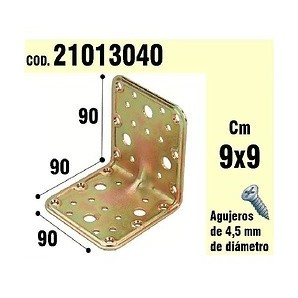 Brackets for wood - Support For Wood Angle 90x90x90 mm 21013040