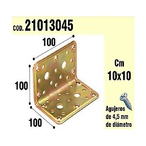 Brackets for wood - Bracket For Wood, Angle 100 x 100 x 100 mm 21013045