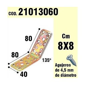 Support For Wood Angle 40x80x80 mm / 135° 21013060