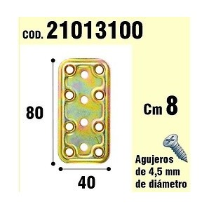 Brackets for wood - Support For Wooden Plate Bicromatada 40x80 mm. 21013100
