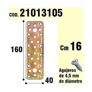 Brackets for wood - Support Parra Wooden Plaque Bicromatada 40x160 mm 21013105