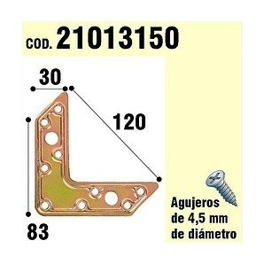 """Support For Wooden Plate """"L"""" Bicromatado 120 mm 21013150"""