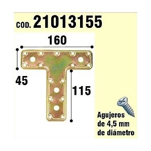 """Brackets for wood - Support For Wooden Plate """"T"""" Bicromatado 160 mm 21013155"""