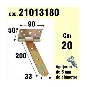 Brackets for wood - Support For Wood Hinge Bicromatado 200 mm 21013180
