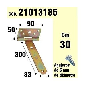Brackets for wood - Support For Wood Hinge Bicromatado 300 mm 21013185