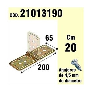 Brackets for wood - Support For Wood Hinge Bicromatado 65 x 200 mm 21013190