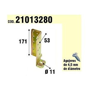 Brackets for wood - Support For Wooden Anchor Bicromatado Adjustable 21013280