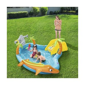 Paddling pools and inflatable - Piscina Infantil Con Tobogan y Peces 280x257x87 cm. 08321477