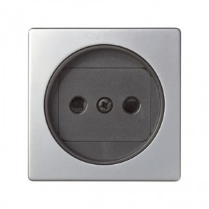 Keys Simon 82 - Tapa enchufe 2P aluminio+grafito SIMON 82040-33
