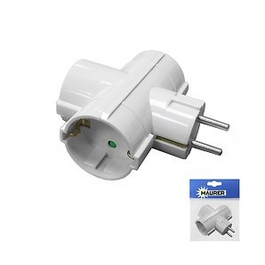 Adapters and connectors - Adapter / Thief Triple Schuko 16 A 250 V. 19110045