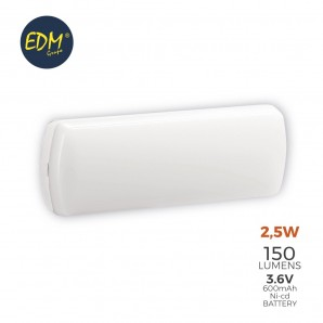 Luz de emergencia LED 2.5W 5 leds EDM 31815