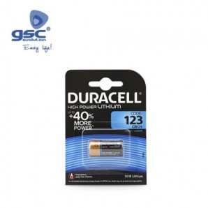 Pila litio DURACELL Ultra M3 123 Blister 1