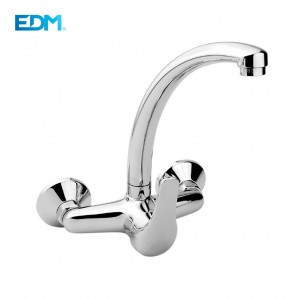 "Wall and countertop - SINGLE LEVER MIXER SINK SPOUT TUBE WALL SERIES ""H2O"""