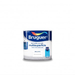 ENAMEL ACRYLIC MULTISURFACE BRIGHT WHITE PERMANENT 0,250 L BRUGUER
