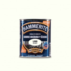 HAMMERITE ENAMEL BRASS SMOOTH BRIGHT WHITE 0.750 L