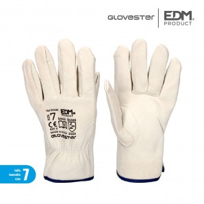Gloves work-leather size 7 EDM 80220