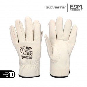Leather gloves - WORKING GLOVE LEATHER SIZE 10 EDM