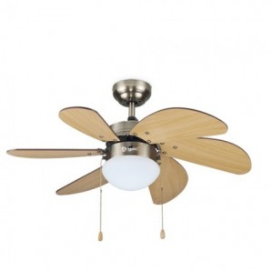 Fan-ceiling-Light-32' 6 blades wood Has