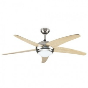 Fan ceiling remote control Light 52' 5 blade wood Has